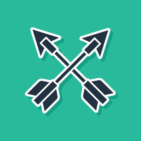 Crossed arrows icon isolated on green background. Vector Vektorové ilustrace