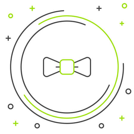 Line Bow tie icon isolated on white background. Colorful outline concept. Vector