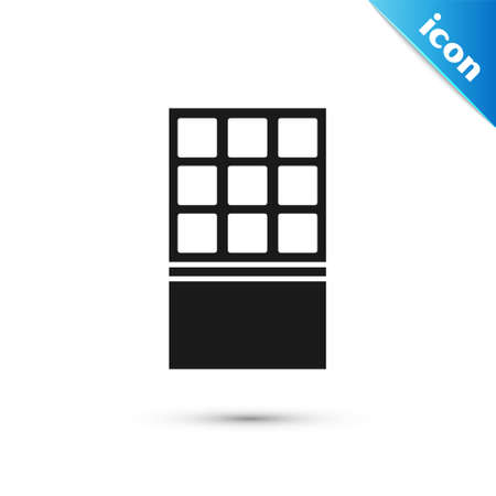 Grey Chocolate bar icon isolated on white background. Vector
