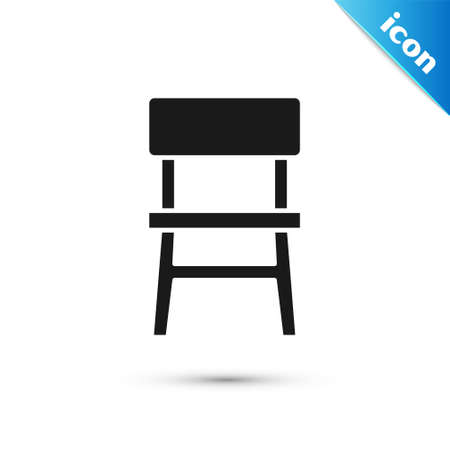 Grey Chair icon isolated on white background. Vector
