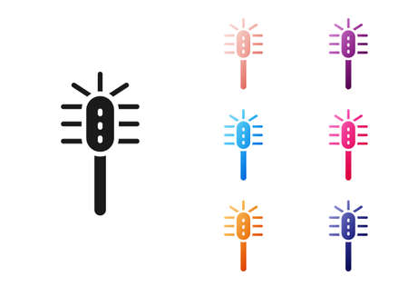 Black Toilet brush icon isolated on white background. Set icons colorful. Vector Иллюстрация