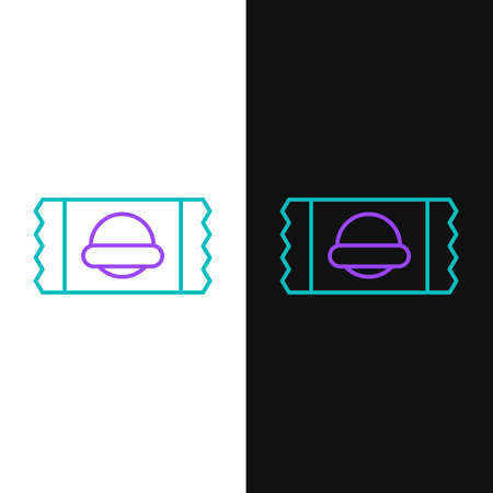 Line Sports nutrition bodybuilding proteine power drink and food icon isolated on white and black background. Colorful outline concept. Vector