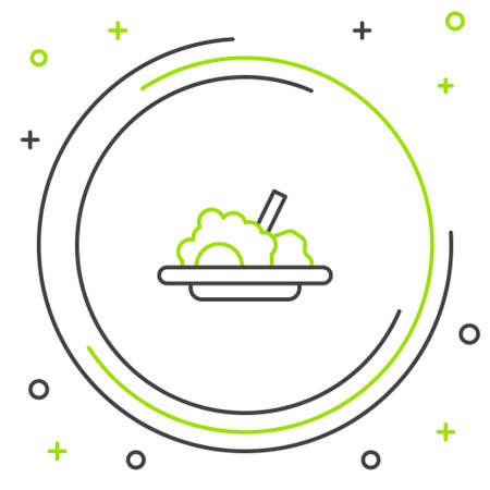 Line Healthy food icon isolated on white background. Colorful outline concept. Vector