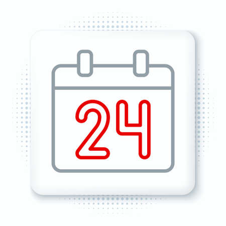 Line Calendar icon isolated on white background. Event reminder symbol. Colorful outline concept. Vector