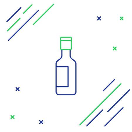 Line Jewish wine bottle icon isolated on white background. Colorful outline concept. Vector Illusztráció