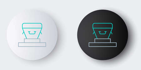 Line Coffin icon isolated on grey background. Funeral ceremony. Colorful outline concept. Vector Vektorové ilustrace
