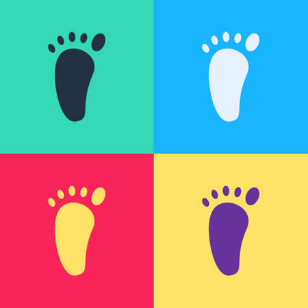 Pop art Foot massage icon isolated on color background. Vector Vector Illustration