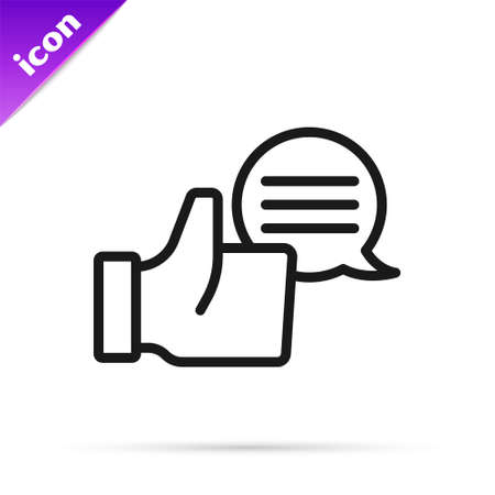Black line Consumer or customer product rating icon isolated on white background. Vector