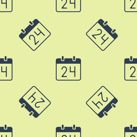 Blue Calendar icon isolated seamless pattern on yellow background. Event reminder symbol. Vector