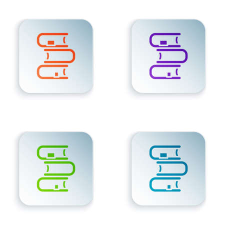 Color Book icon isolated on white background. Set colorful icons in square buttons. Vector