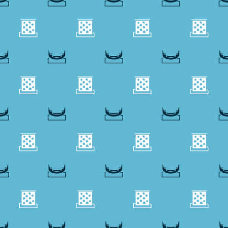 Set Boat swing and Climbing wall on seamless pattern. Vector Stock Illustratie