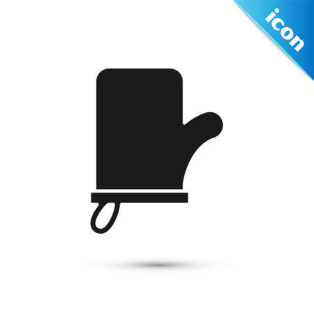 Grey Sauna mittens icon isolated on white background. Mitten for spa. Vector