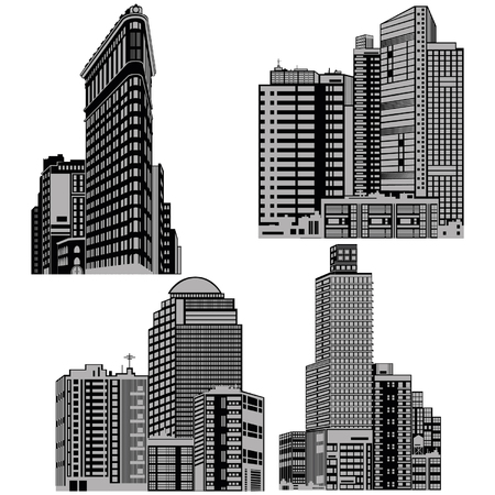 Tall buildings silhouettes