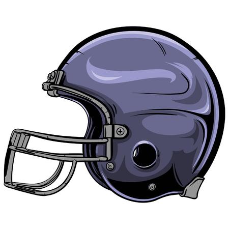 American football helmet vector illustration.