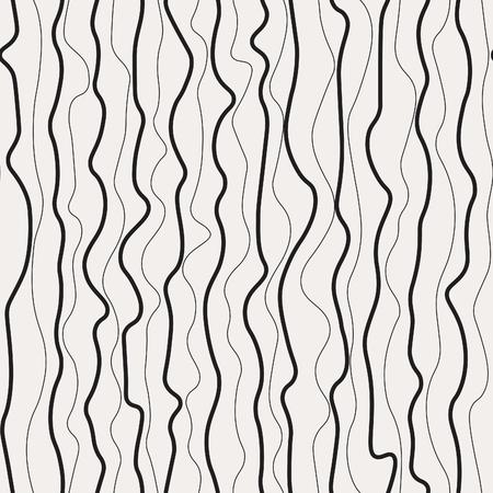 Wavy lines seamless pattern. Corrugated, irregular waves vector bakcground.