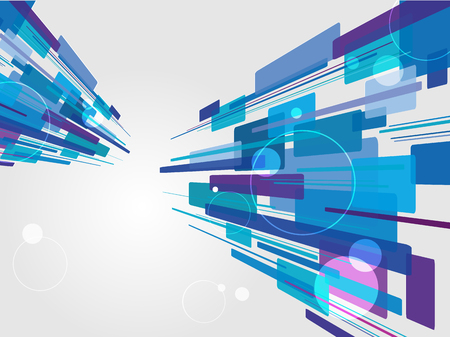 Beautiful perspective shiny lines. Futuristic corporate concept vector background.