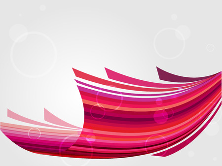 Red abstract web background. Vector futuristic illustration with text space.