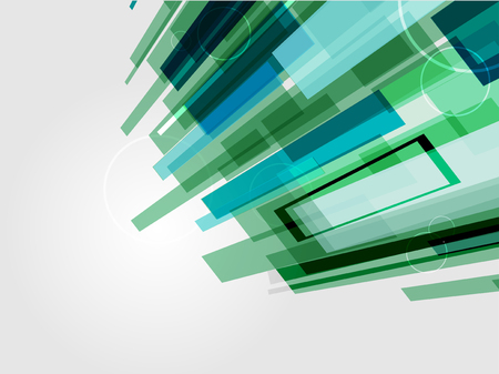 Digital corporate concept vector illustration. Abstract background with glossy futuristic graphic. Иллюстрация