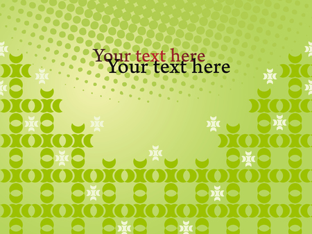 Green prezentation concept with dots and pattern. Vector background with text field.