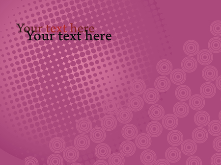 Brick color vector background with circles and dots pattern. Business presentation template with text field.