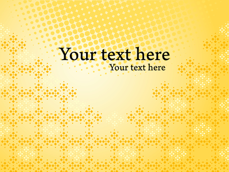 Yellow bright vector background. Glossy cover presentation for your business.