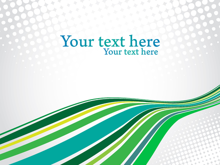Green perspective lines with gray dots background. Corporate presentation vector design.