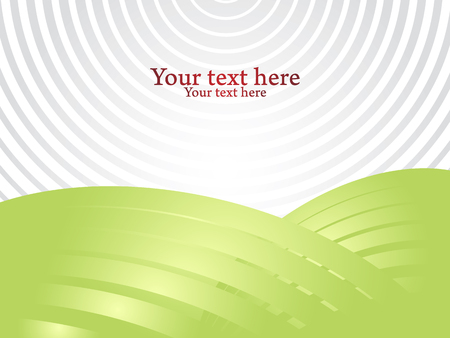 Shiny green abstract shapes and gray space for your text. Vector background for presentation.