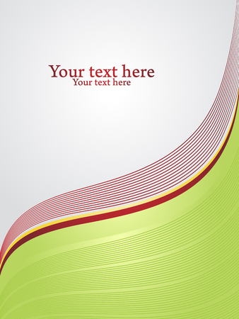 Vertical background for corporate cover. Grey text space separated by corrugated red lines of rest. Vector illustration.