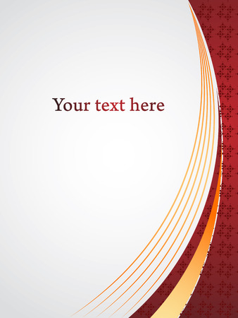 Vertical undulating red shapes and gray space for text. Corporate presentation design vector background.