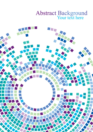 Colorful circle with squares shapes on white background. Creative presentation concept vector background. Иллюстрация
