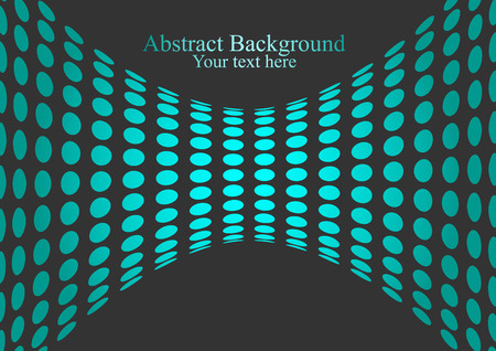 Neon light circles vector background with optical illusion. Gradient dotted hourglass.