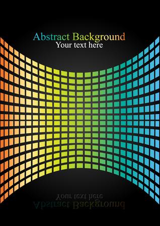 Reflection of gradient light wall on black background. Presentation concept vector illustration. Иллюстрация