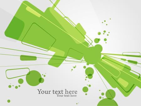 Glossy poster presentation. Green shiny shapes vector background. Иллюстрация
