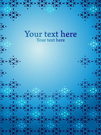 Gradient blue vector background with pattern design. Concept for cover presentation.