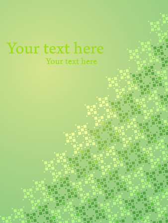 Green shiny gradient with oblique pattern and text space. Presentation concept vector background. Иллюстрация