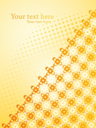 Yellow vector background with Polka dots and oblique pattern.