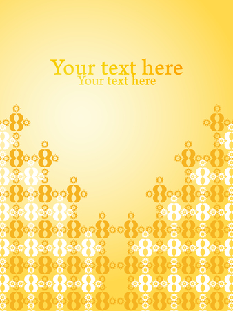 Bright yellow gradiet with pattern design vector background. Wallpaper with text space. Иллюстрация