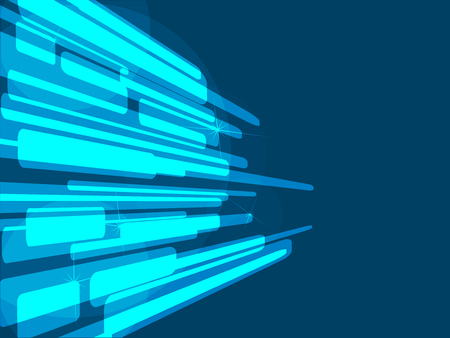 Lightning futuristic shapes on blue vector background. Corporate cover presentation. Иллюстрация