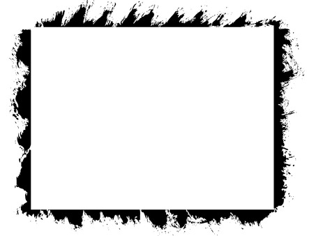 Vector grunge frame. Clean picture place with sprinkled edges.