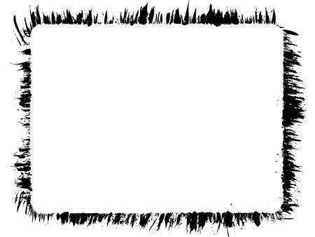 Rounded rectangle grunge vector frame. Sprinkled edges. Иллюстрация