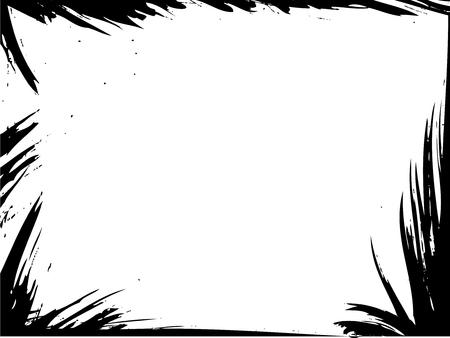 Grunge splash vector template. Grungy ink frame. Иллюстрация