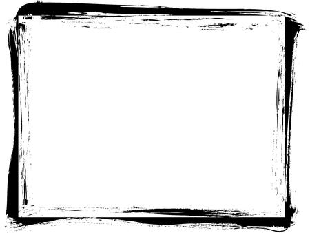 Rectangle grunge photo frame. Distress vector template.