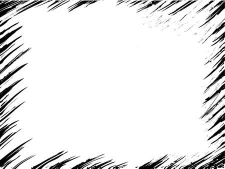 Oblique paintbrush vector frame. Grunge damaged template edge.