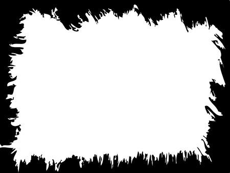 Grunge vector frame for aged illustration.
