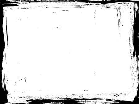 Aged vector frame. Distressed grunge border.