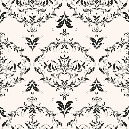 Royal rococo seamless pattern luxury design for wallpaper and packaging. Floral baroque classic texture. Romantic damask vector background.