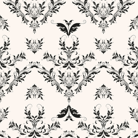 Flourishes baroque background. Classic repeating vector seamless pattern. Иллюстрация