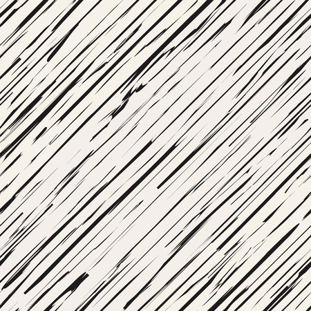 Oblique grunge ink lines vector background. Monochrome damaged esndless structure. Trendy seamless pattern with grungy lines. Иллюстрация