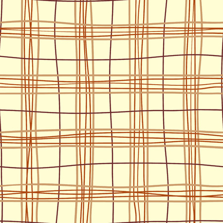 Repetitive british design with crooked lines. Vector background. Plaid seamless pattern.