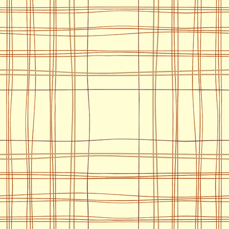 Tartan material design. Colored hand-drawn lines vector background. Traditional fabric seamless pattern.